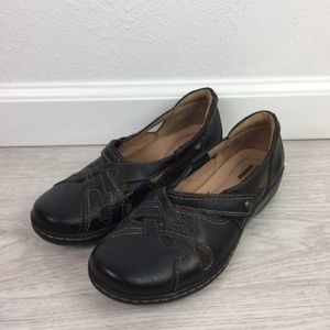Clarks Collection Slip On Leather Clog Size 7